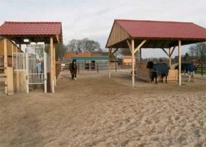 Vlevo Horseking® – Selektionssystem, vpravo krmelec se senem